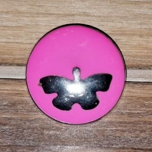 18MM SNAP Button Charm Butterfly Ginger Snap
